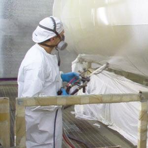 industrial coating application